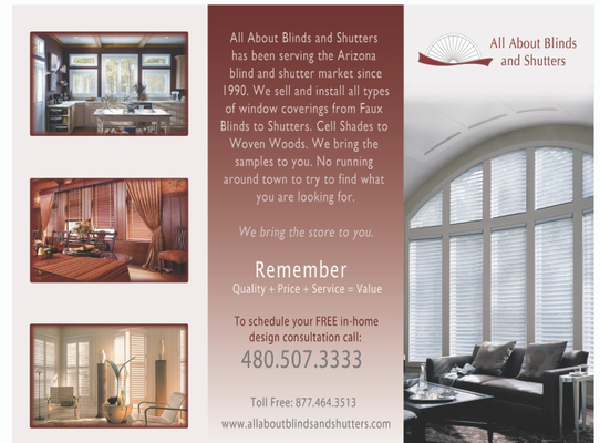 All About Blinds and Shutters - Flyer