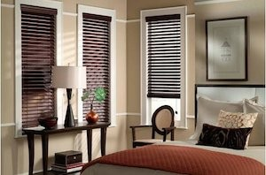 blinds, faux wood blinds